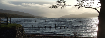 Looking down Loch Ness from Dores beach