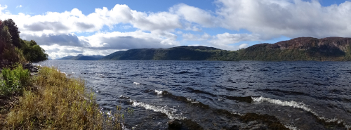 View down Loch Ness from just outside Pottery House B&B