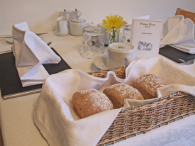 Breakfast Rolls Served each morning, freshly baked