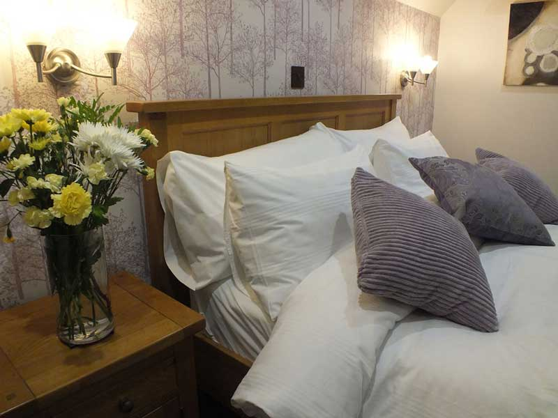 Our large double room with woodland views