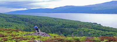 Looking Down Loch Ness from Dun Dearduill