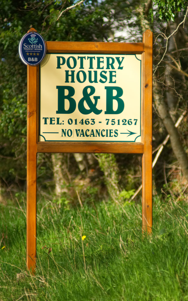 Pottery House Road Side Sign